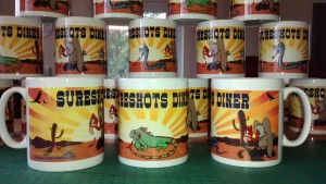 Sureshots Diner full colour print custom mugs